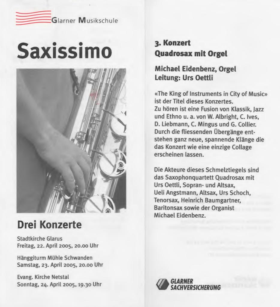 Saxissimo - Quadrosax mit Orgel