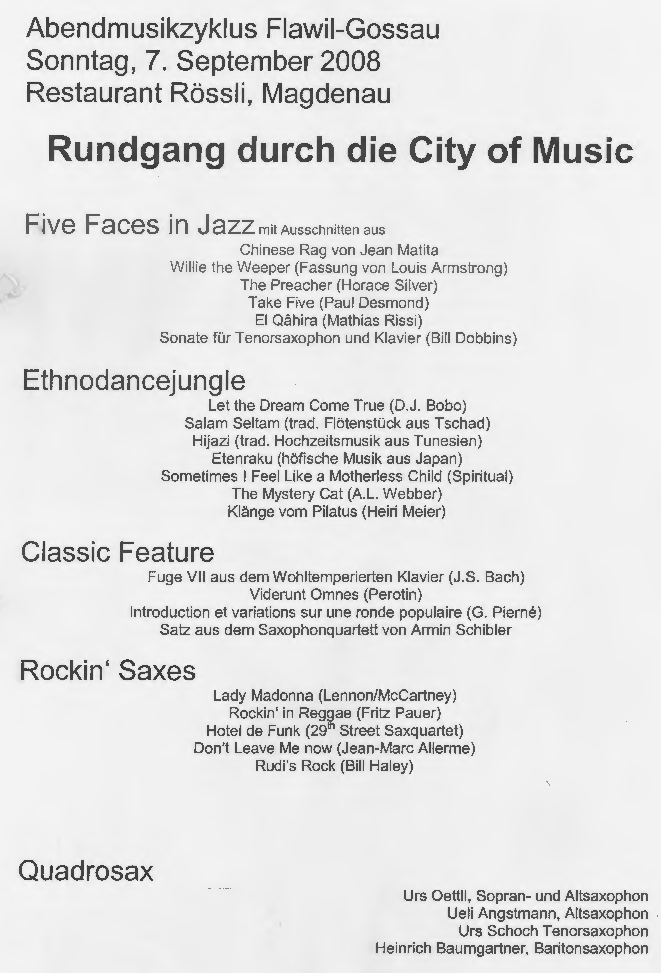 Quadrosax - City of Music